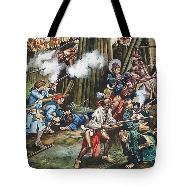 Storming Of The Fortress Of Neoheroka Tote Bag by Ron Embleton
