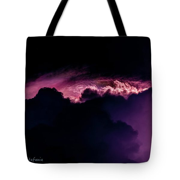 Storms Acomin' Tote Bag by Stefanie Silva