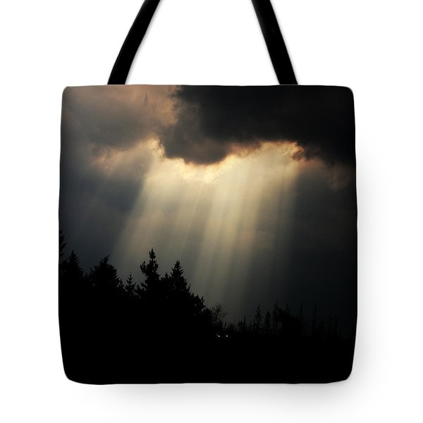 Storms And Sun Rays Tote Bag