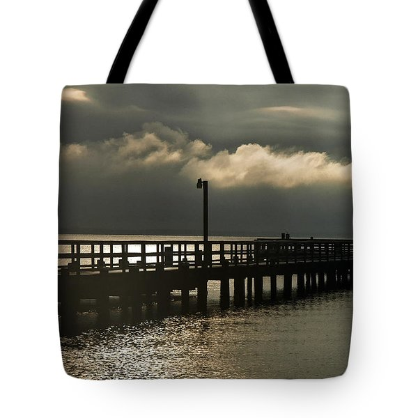Storms Brewin' Tote Bag by Clayton Bruster