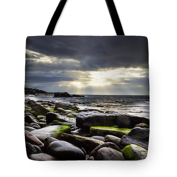Tote Bag featuring the photograph Storm's End by Laura Roberts