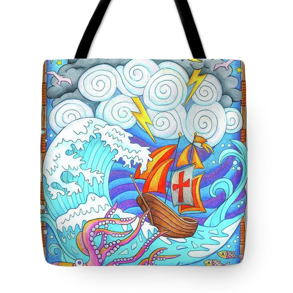 Storms Of Life Tote Bag by Jennifer Allison