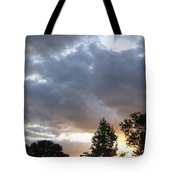 Tote Bag featuring the photograph Storms On The Horizon by Skyler Tipton