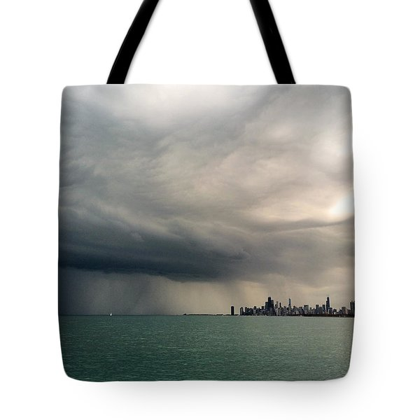 Storms Over Chicago Tote Bag
