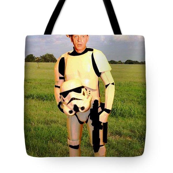 Stormtrooper Barney Fife Tote Bag by Paul Van Scott