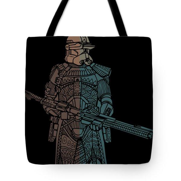 Stormtrooper Samurai - Star Wars Art - Minimal Tote Bag