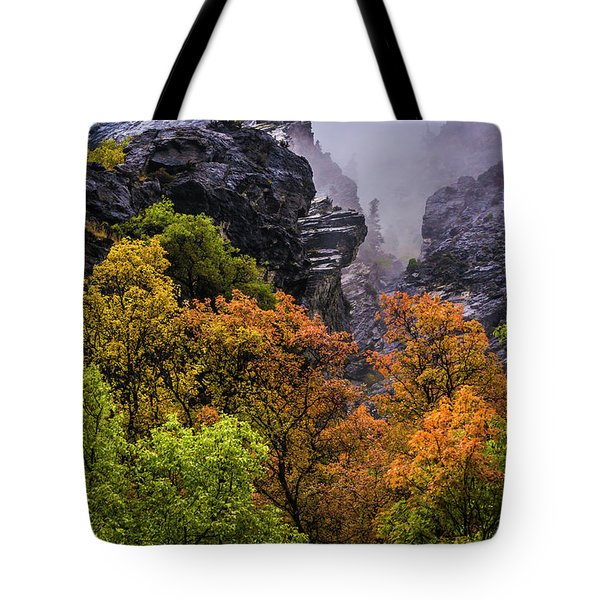Stormy American Fork Canyon - Wasatch - Utah Tote Bag