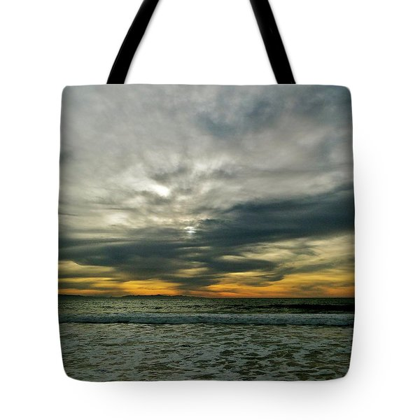 Stormy Beach Clouds Tote Bag