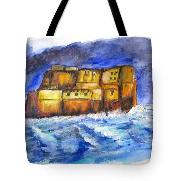 Stormy Castle Dell'ovo, Napoli Tote Bag