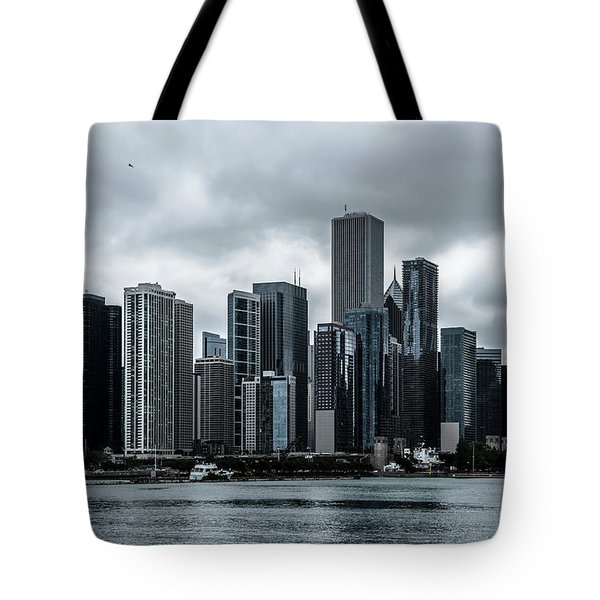 Stormy Chicago  Tote Bag