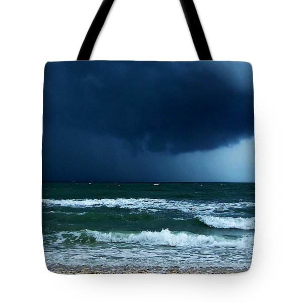 Tote Bag featuring the photograph Stormy Day At Honeymoon Island 000 by Chris Mercer