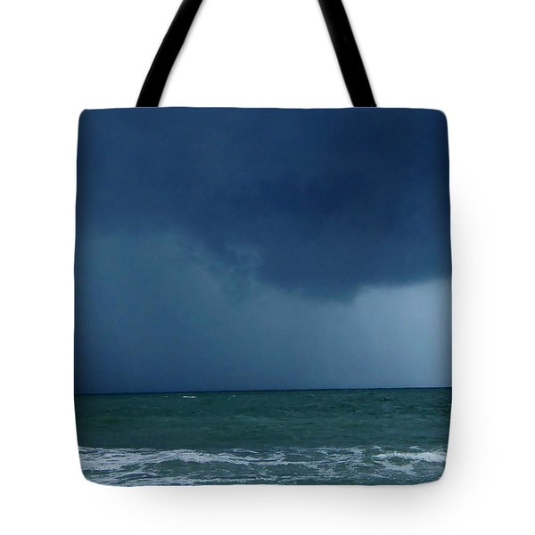 Tote Bag featuring the photograph Stormy Day At Honeymoon Island 002 by Chris Mercer