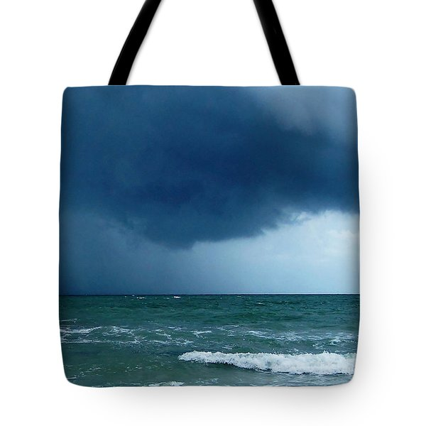 Tote Bag featuring the photograph Stormy Day At Honeymoon Island 003 by Chris Mercer
