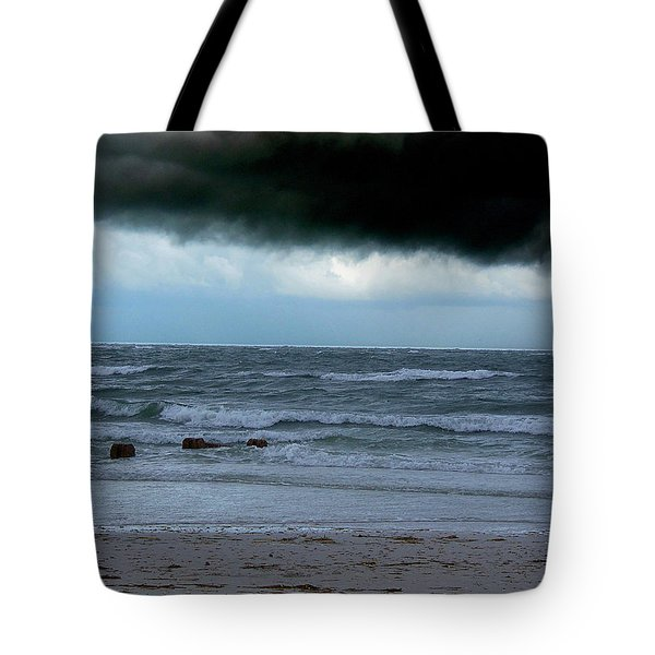 Tote Bag featuring the photograph Stormy Day At Honeymoon Island  by Chris Mercer