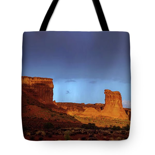 Tote Bag featuring the photograph Stormy Desert by Chad Dutson