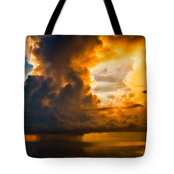 Stormy Florida Keys Tote Bag