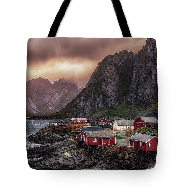 Stormy Hamnoy Tote Bag
