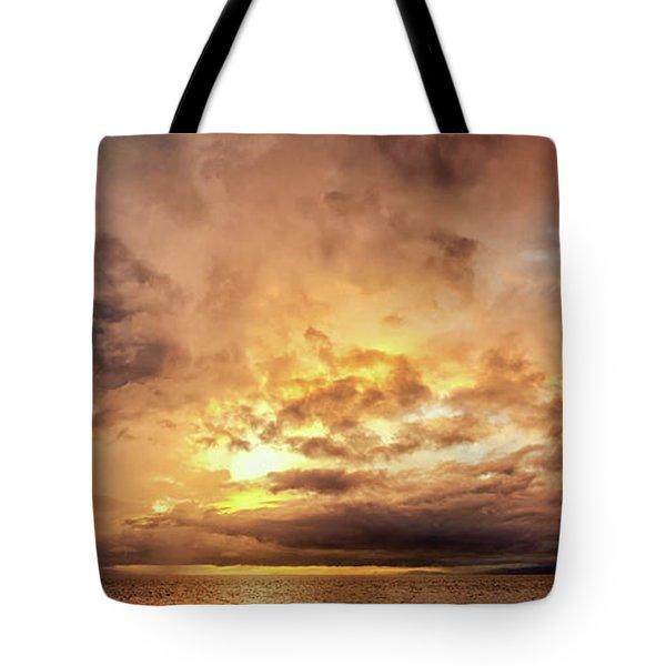 Stormy Ka'anapali Sunset Tote Bag