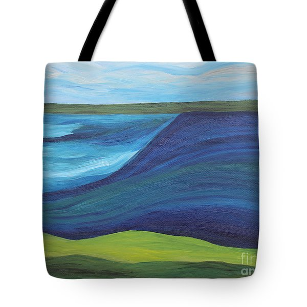 Stormy Lake Tote Bag by Annette M Stevenson
