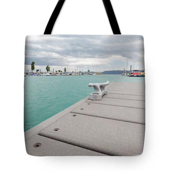 Stormy Marina Tote Bag