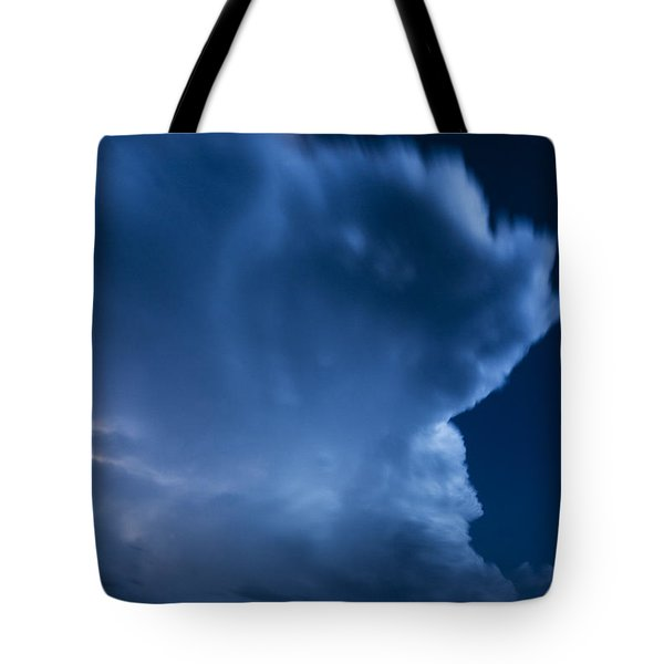 Stormy Moon Tote Bag by Karen Slagle