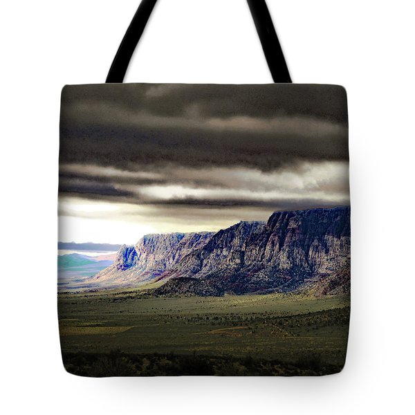 Stormy Morning In Red Rock Canyon Tote Bag by Alan Socolik