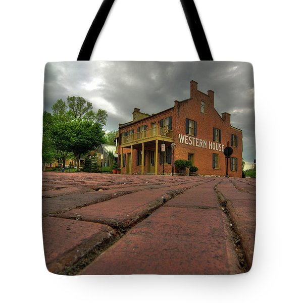 Stormy Morning On Main Street Tote Bag