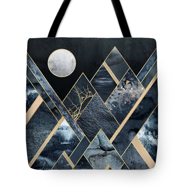 Stormy Mountains Tote Bag