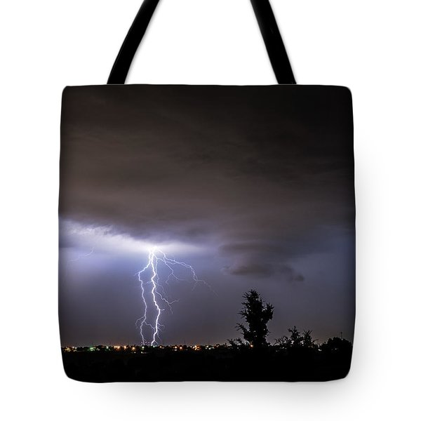 Stormy Night Tote Bag by Karen Slagle