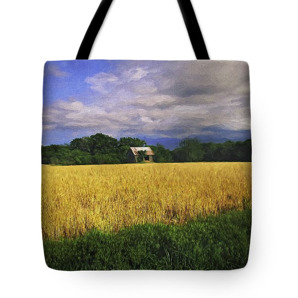 Stormy Old Barn In Wheat Field 2 Tote Bag