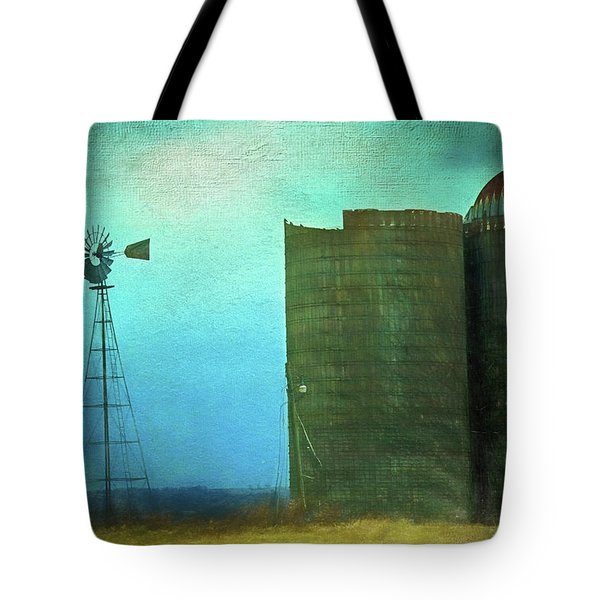 Stormy Old Silos And Windmill Tote Bag