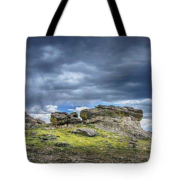 Stormy Peak 3 Tote Bag