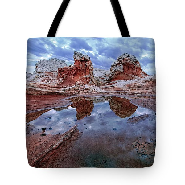 Stormy Reflection Tote Bag