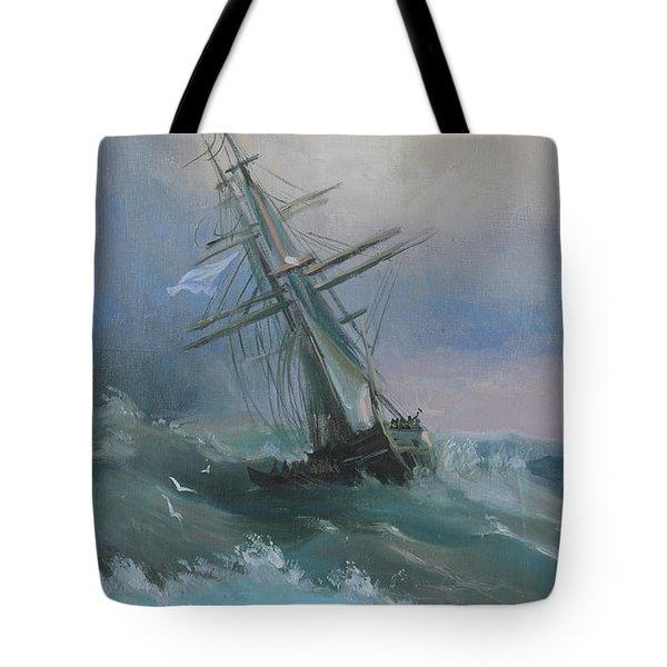 Stormy Sails Tote Bag