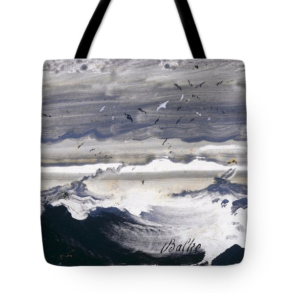 Tote Bag featuring the painting Stormy Sea by Peder Balke