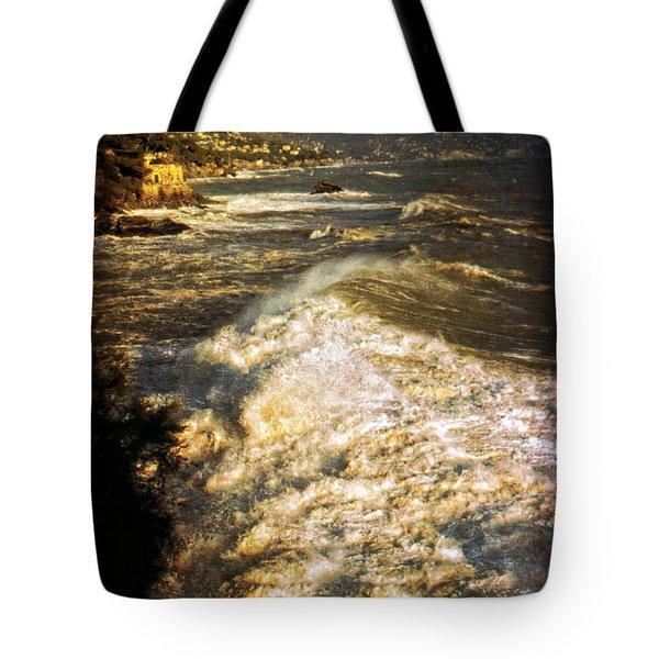 Stormy Sea Tote Bag by Silvia Ganora