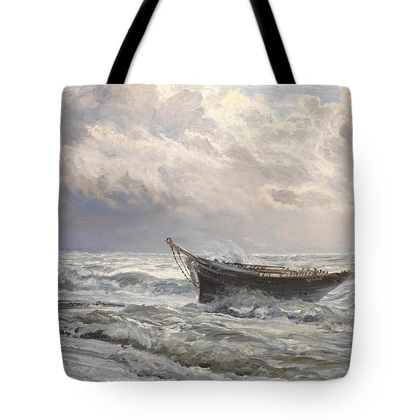 Stormy Seas Tote Bag by Henry Moore