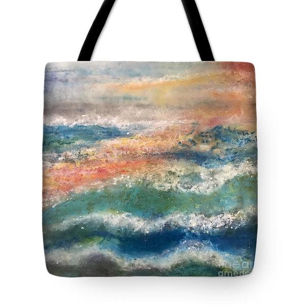 Tote Bag featuring the painting Stormy Seas by Kim Nelson