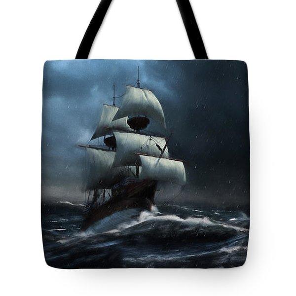 Stormy Seas - Nautical Art Tote Bag