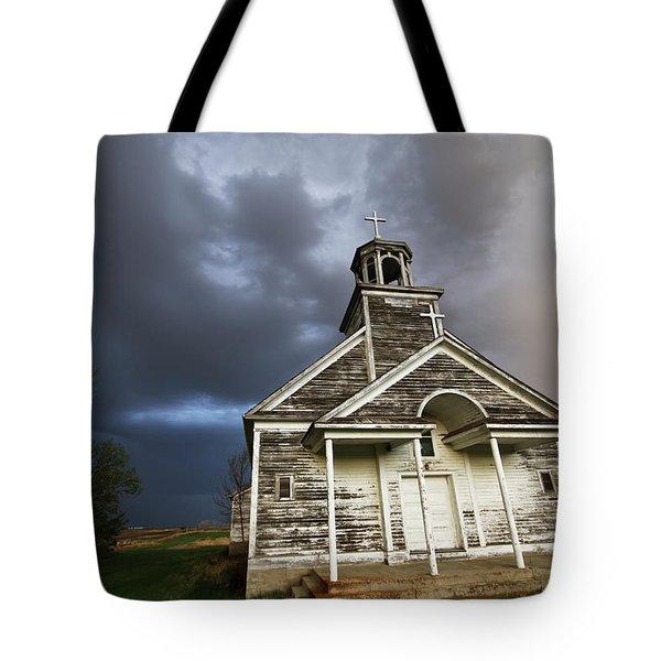 Stormy Sk Church Tote Bag