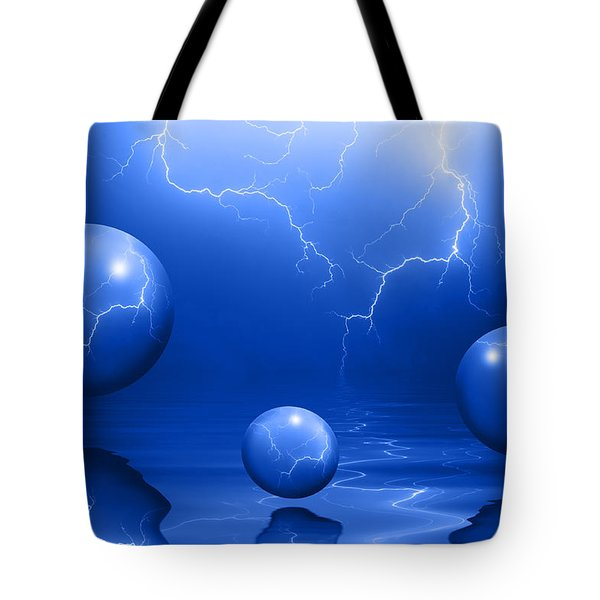 Stormy Skies - Blue Tote Bag
