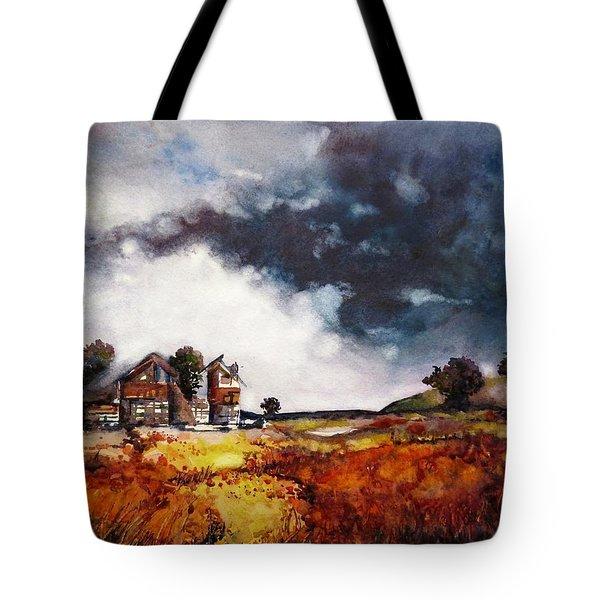 Stormy Skies Tote Bag by Geni Gorani