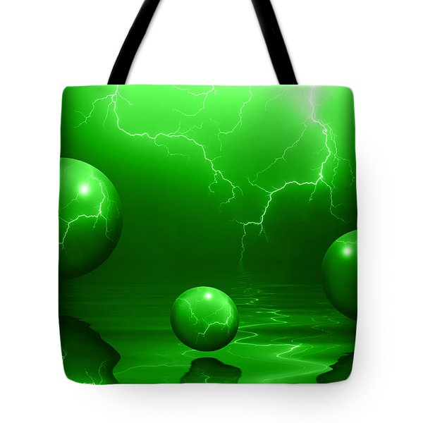 Stormy Skies - Green Tote Bag