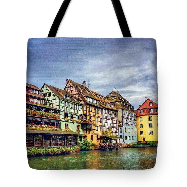 Stormy Skies In Strasbourg Tote Bag by Carol Japp