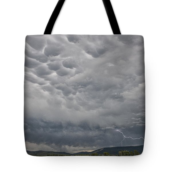 Tote Bag featuring the photograph Stormy Skies In Wyoming by Sandra Bronstein