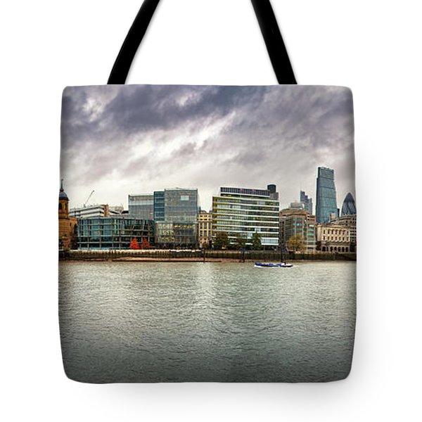 Stormy Skies Over London Tote Bag