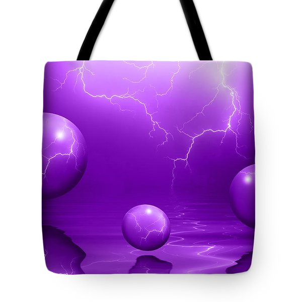 Stormy Skies - Purple Tote Bag