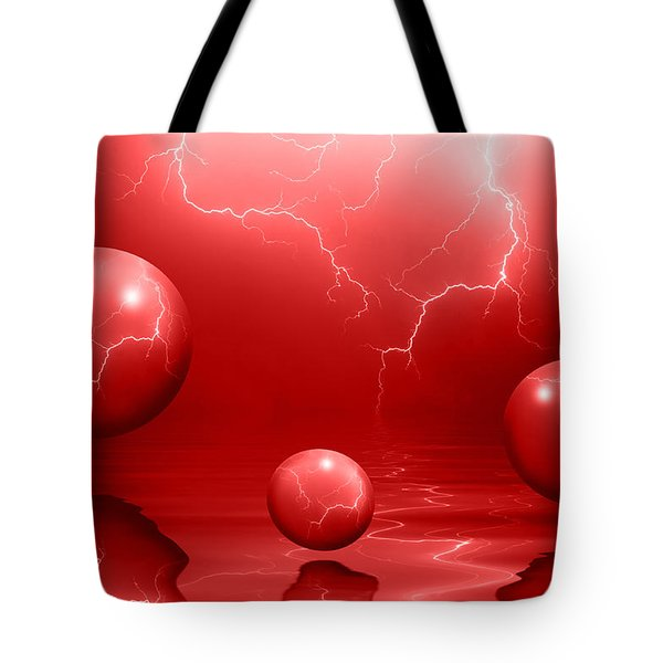 Stormy Skies - Red Tote Bag