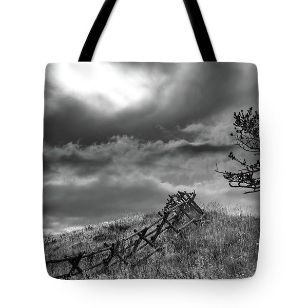 Stormy Sky At The Ranch Tote Bag