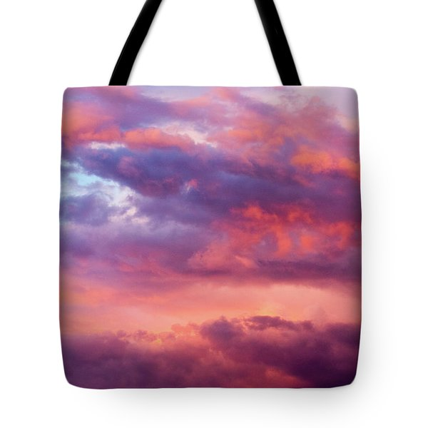 Tote Bag featuring the photograph Stormy Southwest Sunset Horizontal by SR Green
